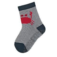 """Jungen Anti-Rutsch-Socken Fliesen Flitzer Sun """"Krabbe"""", marineblau - 8022004"""