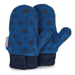 """Jungen Fäustel mit Klettverschluss Faust-Handschuhe mit Daumen Microfleece """"Sterne"""", blau - 4301920"""