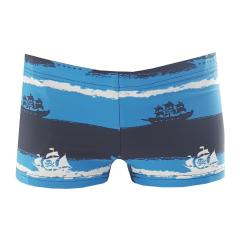 Sanetta Jungen Badehose Badeshorts Schwimmhose Piratenmuster, Blau - 430422