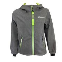 Jungen Regenjacke Funktionsjacke, wasserdicht, neon-grünen/anthrazit -8481202
