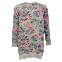 Teens Mädchen Kleid langarm grau pink 442022
