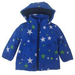 Softshelljacke Funktionsjacke von Outburst Wasserabweisend Jungen Sternemuster, blau - 8421102