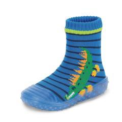 "Jungen Kinder Anti-Rutsch-Socken Adventure-Socks Socken-Schuh-Kombination ""Krokodil"" , blau - 8362101"