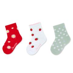"Mädchen Socken Dreierpack ""Sommermotive"" ,rot -8322125"