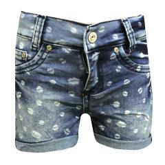 Mädchen Kids Shorts kurze Hose gemustert, blau - 3611-9755