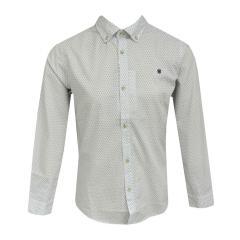 Jungen festliches langarm Hemd gemustert, weiß - 6141w