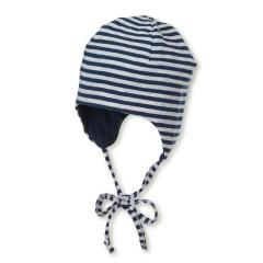 Jungen Sommermütze zum Wenden, Erstlingsmütze zum Binden, UV-Schutz 50+, dunkelblau - 1501832