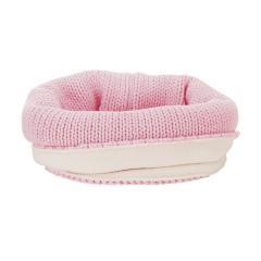 Mädchen Baby Loop Winterschal Schlupf-Schal Strickloop mit Microfleece gefüttert einfarbig, rosa - 4261800
