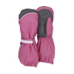 Mädchen Stulpen-Handschuhe gefüttert Microfleecefutter Fausthandschuhe mit reflektierendem Klettverschluss und Reißverschluss wasserdicht atmungsaktiv, magenta mel. - 4321915