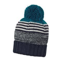 Jungen Mütze Wintermütze Strickbeanie mit Bommel, blau - 4721824