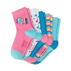 """Mädchen Socken 5er Pack gemustert """"Einhorn"""", rosa - 173047"""