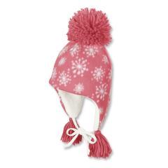 Kids Mädchen Wintermütze mit Bommel, coral - 4411620