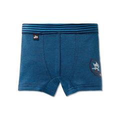 Jungen Boxershorts Shorts Unterhose Ringel Capt'n Sharky, dunkelblau - 163159