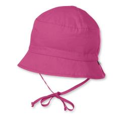 Mädchen Sommerhut zum Binden mit Schleife einfarbig, pink