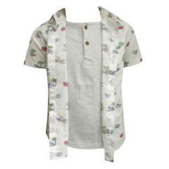 Jungen Hemd kurzarm Safari, weiß - 1155