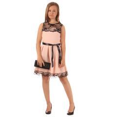 Mädchen festliches Kleid mit Spitze, altrosa - 1371500rosa