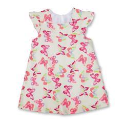 """Mädchen Baby Kleid, gefüttert, weiß """"Schmetterlinge"""" - 2851900"""