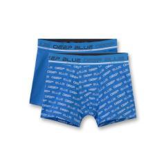 """Jungen Shorts Hipshorts Unterhosen 2er Pack, blau """"deep blue"""" - 345658"""