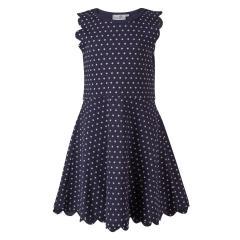 Mädchen Sommerkleid Festmode festliches Kleid gepunktet ,dunkelblau -911317