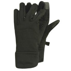 Fingerhandschuh Mädchen innen geraut mit induktiver Fingerkuppe, schwarz