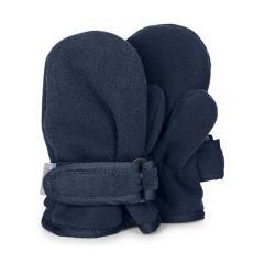 Jungen Handschuhe wasserabweisend Fleece Fäustel mit Klettverschluss einfarbig, marineblau - 4301921