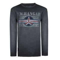 Jungen Shirt mit langen Armen, Grau - 6820