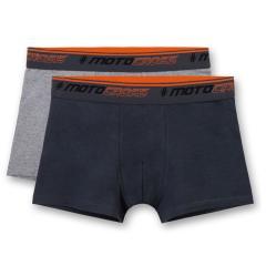 Jungen Shorts Unterhosen Hipshorts Doppelpack, anthrazit grau - 345603