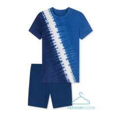 Jungen Sommer Schlafanzug kurzarm , dunkelblau - 173359