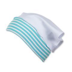 Tuchmütze Kopftuch einfarbig, weiss - 1451801