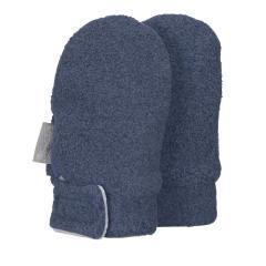 Baby Jungen Fäustlinge Handschuhe Fleece mit Klettverschluss ohne Finger, tintenbl. mel. - 4301400