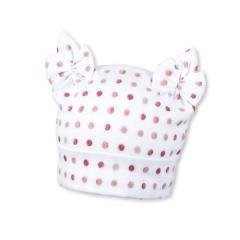Mütze Knotenmütze Baby Mädchen gepunktet, weiß - 1401861
