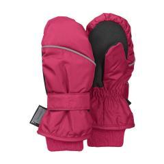 Mädchen Fäustlinge Fausthandschuh Thermo-Handschuh mit reflektierendem Strich und Klettverschluss einfarbig, magenta - 4321800