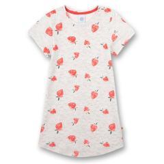 """Mädchen Nachthemd kurzärmlig """"Erdbeere"""" graumelange/pink - 232622"""