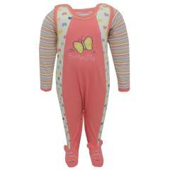 Baby Strampler-Set mit Body Mädchen, pink