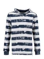 Jungen Sweater mit Kapuze gestreift, blau - G73465