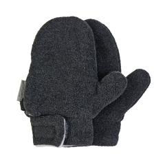 Jungen Fäustlinge Handschuhe Fleece mit Klettverschluss, anthrazit mel. – 4301420