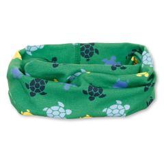 """Jungen Kinder Baby Allrounder Loop LSF UV-Schutz 50+ Baumwolltuch """"Schildkröten"""", waldgrün – 1522059"""