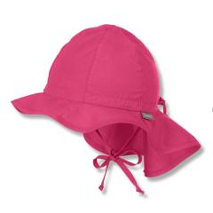 Mädchen Sommerhut zum Binden mit Nackenschutz einfarbig, magenta - 1511620