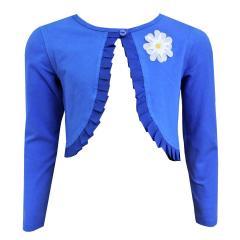 Festlicher Bolero Mädchen Blume, blau - MF20015