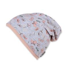 Mädchen Slouch-Beanie Mütze Schmetterlinge, grau - 1411953