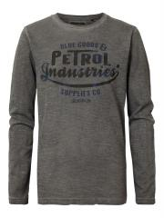Jungen T-Shirt Langarmshirt Used-Look und Schriftzug im Used-Look, grau - B-FW18-TLR605
