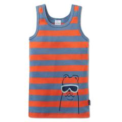 Jungen Unterhemd gestreift, orange - 163406