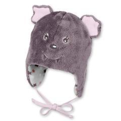 Baby Mädchen Mütze zum binden Ohrenschutz Vampir von Sterntaler, lila- 4501782