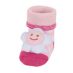 "Baby Mädchen Rassel-Söckchen Plüsch-Socken, rosa ""Blume"" - 8441900"