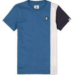 Jungen T-Shirt  kurzarm Colourblock , blau - C13409_boys T-shirt