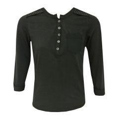 Mädchen Langarmshirt mit Nieten, schwarz, S62414
