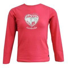 Mädchen Langarmshirt Pferde Glitzerherz, pink - 75111256