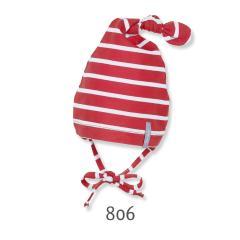 Knotenmütze Mütze Jungen gestreift, rot - 1501640