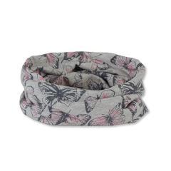 """Mädchen Baby Loop Allrounder, UV-Schutz 50+, rosa grau """"Schmetterlinge"""" - 1521957"""