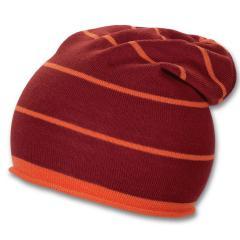 Gestreifte Mütze Übergangsmütze Jungen, rot
